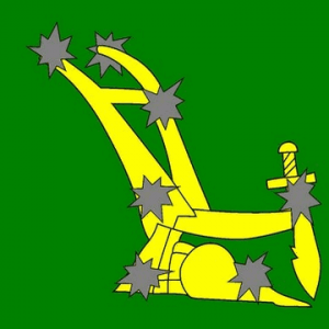 Starry Plough Flags (Green)