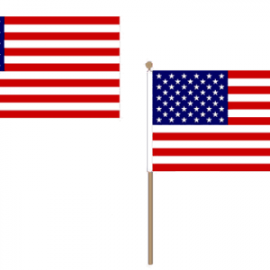 USA Hand Waving Flags