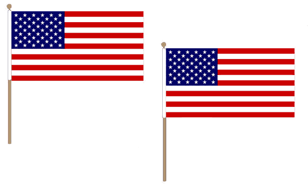 USA Hand Waving Flags