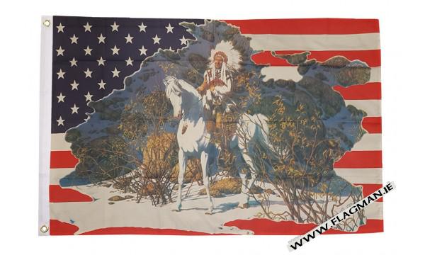 USA indian chief flag