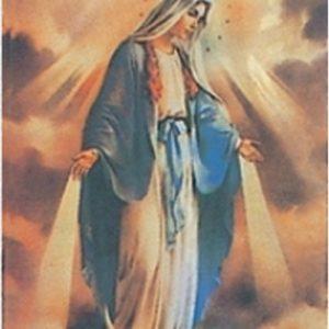 Virgin Mary Flag Shiny (2.4' x 3.4')