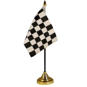 Black & White Check Table Flag x 2