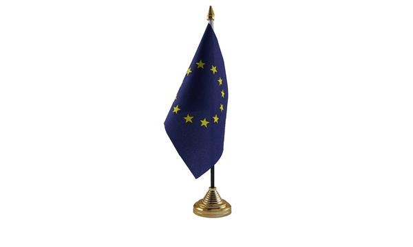 European Table Flags x 2