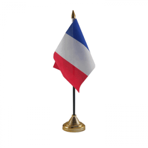 France Table Flags x 2
