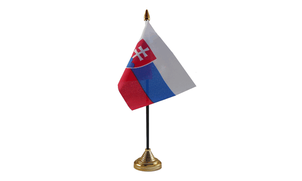 Slovakia Table Flags x 2