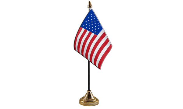 USA Table Flag X 2