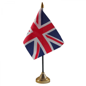 United Kingdom Table Flags x 2