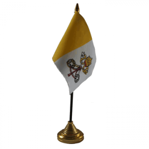 Vatican City Table Flags x 2