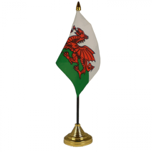 Wales Table Flags x 2