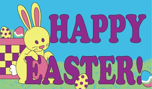 Happy Easter Flag (Bunny)