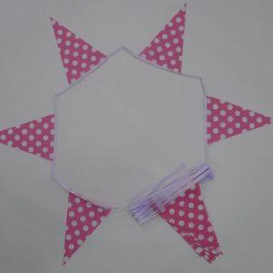 Pink & White Polka Dot Bunting