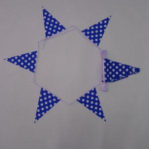 Royal Blue & White Polka Dot Bunting