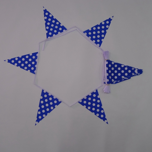 Royal Blue & White Polka Dot Bunting
