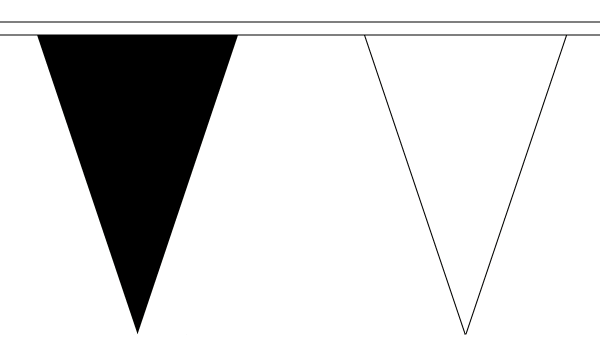 black-and-white-bunting-triangle
