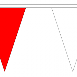 Red and White Bunting Triangle