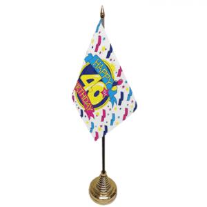 Happy 40th Birthday Table Flag