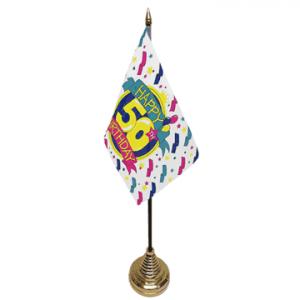 Happy 50th Birthday Table Flag