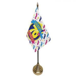 Happy 70th Birthday Table Flag