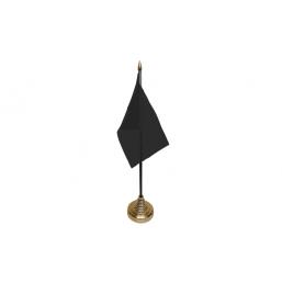 Plain Black Table Flag
