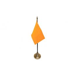 Plain Orange Table Flag