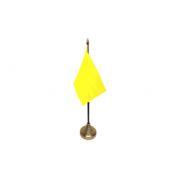 Plain Yellow Table Flag