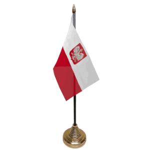 Poland Crest Table Flag