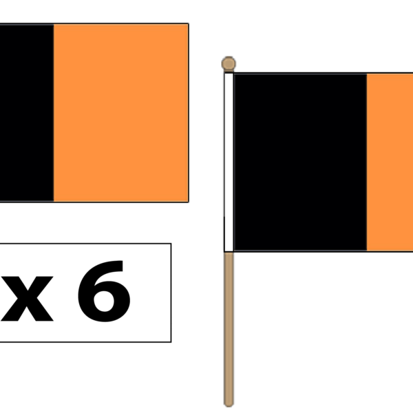 black-and-amber-hand-waving-flags