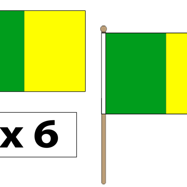 green-and-gold-hand-waving-flags
