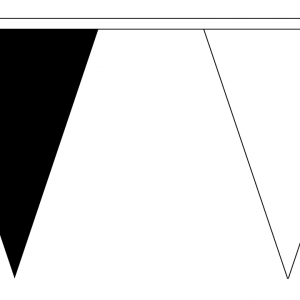 black and white bunting triangle