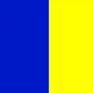 blue and yellow flag