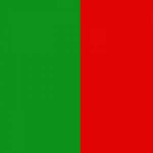 green and red flag