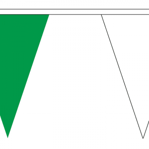 green and white bunting triangle