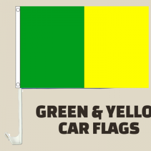 Green and Yellow Car Flag