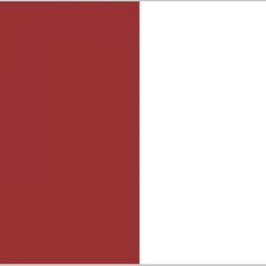 maroon and white flag