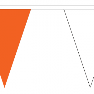 orange and white bunting triangle