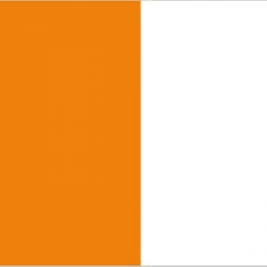 orange and white flag