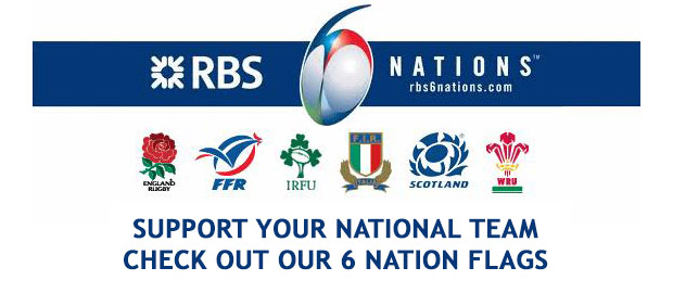 6 Nations Flags
