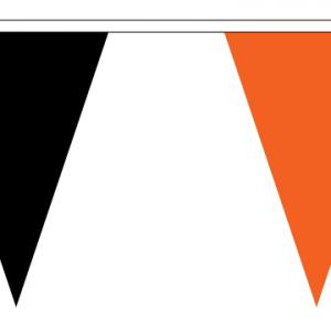 Black and Orange Bunting