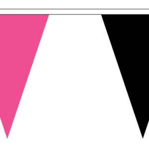 Black and Pink Bunting