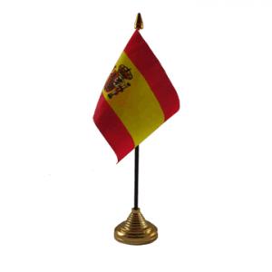 Spain Crest Table Flag x 2