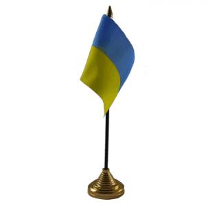 Ukraine Table Flags