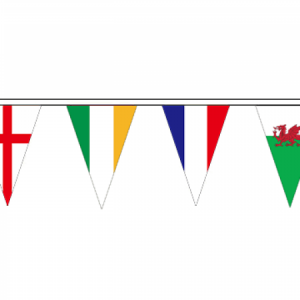 6 Nations Rugby Bunting Triangle