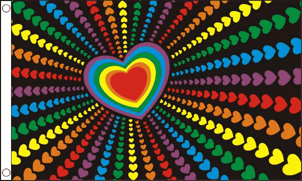 Rainbow Love Flag