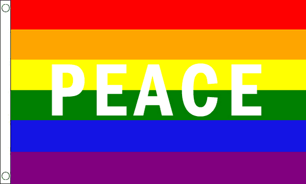 Rainbow Peace Flag Buy Pride Lgbt Flags Bunting At Flagman