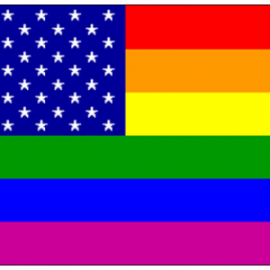 Rainbow USA Flag