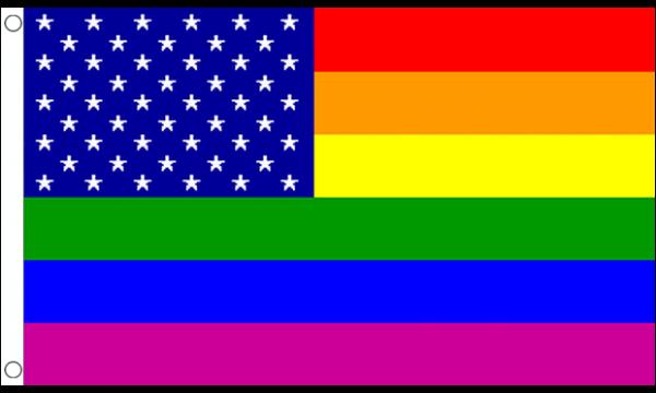 Rainbow USA Flag