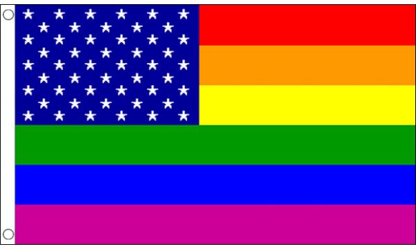 Rainbow Usa Flag Buy Rainbow Flags Bunting At Flagman