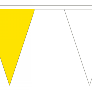 Yellow and White Bunting Triangle