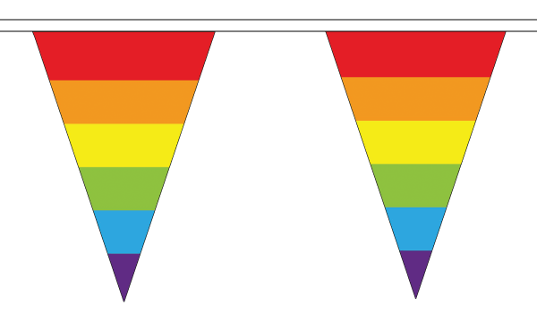 Rainbow Triangle Bunting