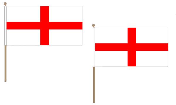 England Hand Waving Flags